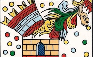 El rayo destruyendo la torre, según el tarot de Marsella